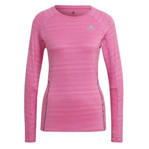adidas Runner Long Sleeve Women's Running Top pink front