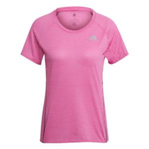 adidas Runner Short Sleeve Women's Running Tee pink front