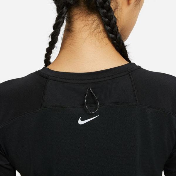 Nike Miler Run Division Short Sleeve Women's black back