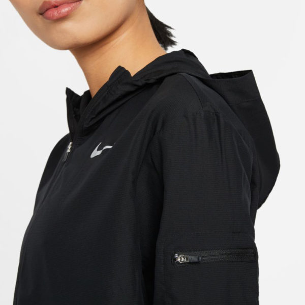 Nike Impossibly Light Women's Running Jacket black detail