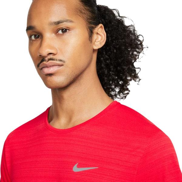 Nike Miler Short Sleeve Men's uni red detail
