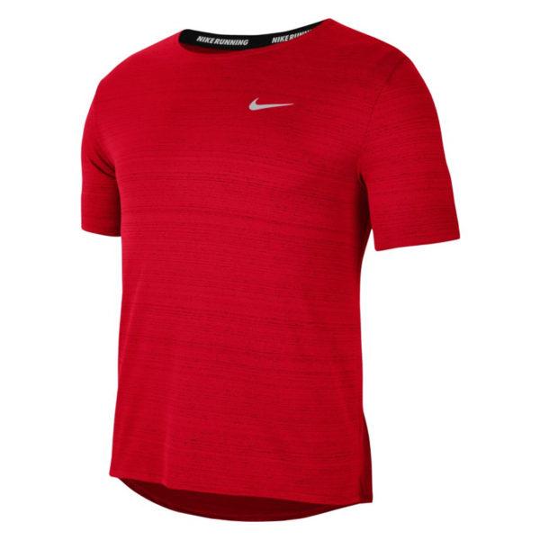 Nike Miler Short Sleeve Men's uni red front