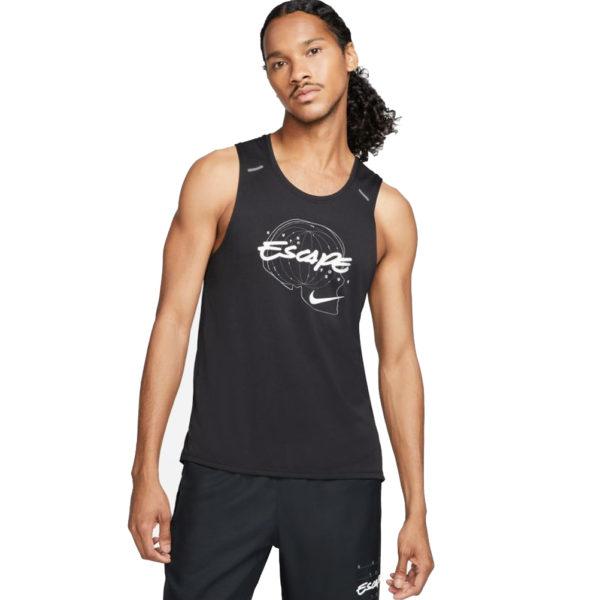 Nike Miler Wild Run Men's Running Tank black front