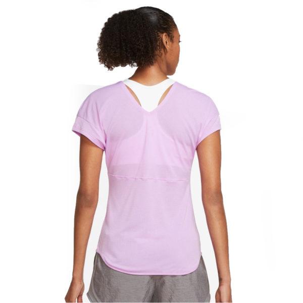 Nike Breathe Short Sleeve Women's Running Top back