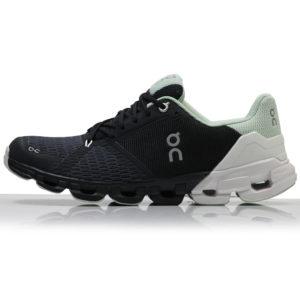 On Cloudflyer Women's Running Shoe black white side