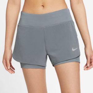 Nike Eclipse 2in1 Women's Running Short smoke grey front