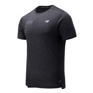 New Balance London Edition Impact Run Short Sleeve Men's Running Tee dark heather front