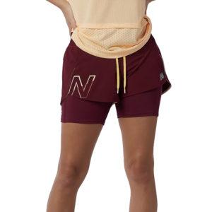 new balance printed impact 2-in-1 shorts