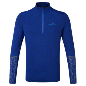 Ronhill Life Night Runner Halfzip Long Sleeve Men's cobalt front