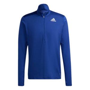 Adidas Own The Run Half Zip Long Sleeve Men's vic blue front
