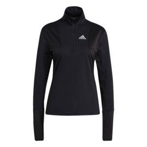 Adidas Own The Run Half Zip Long Sleeve Women's black front