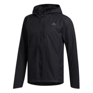 adidas Own The Run Men's Hooded Windbreaker black front
