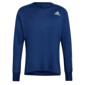 adidas Own The Run Long Sleeve Men's vic blue front