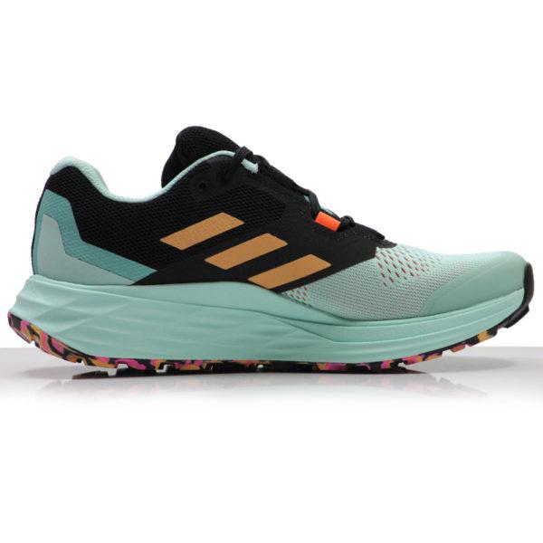 adidas Terrex Two Flow Women's Trail Shoe clear mint back