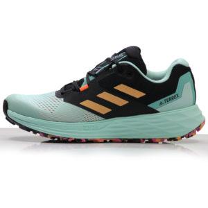 adidas Terrex Two Flow Women's Trail Shoe clear mint side