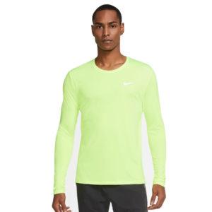 Nike Miler Long Sleeve Men's volt front