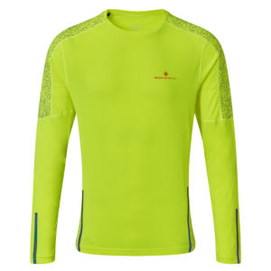 Ronhill Life Nightrunner Long Sleeve Men's yellow front