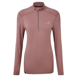Ronhill Tech Thermal Halfzip Long Sleeve Women's mauve front