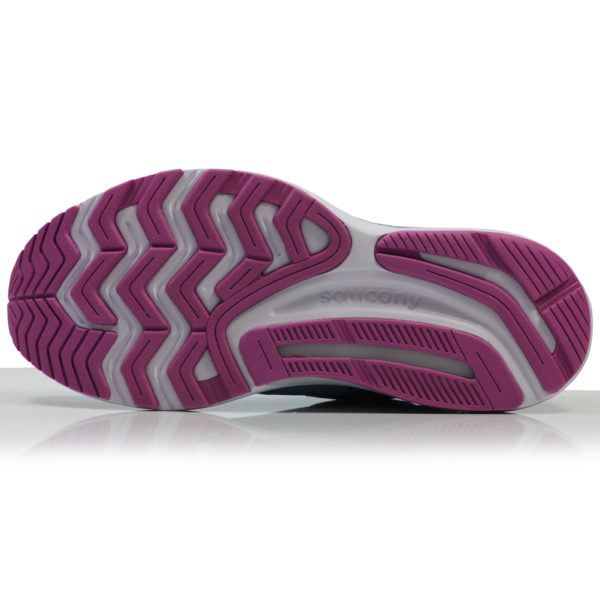Saucony Guide 14 Women's Running Shoe blue blaze sole