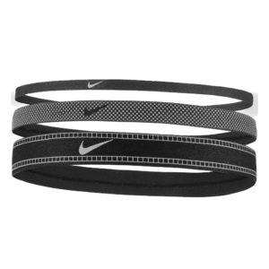 Nike Mixed Width Reflective Headbands 3 Pack