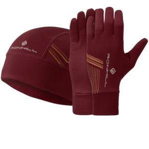 Ronhill Beanie and Glove Set cabernet